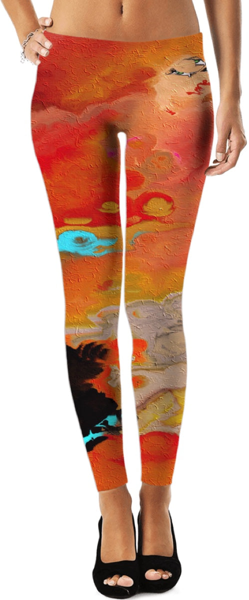 Leggings Abstract Collection Motorcycle Lady