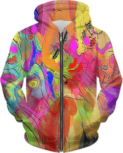 Hoodies Abstract Painting Collection Female Power52