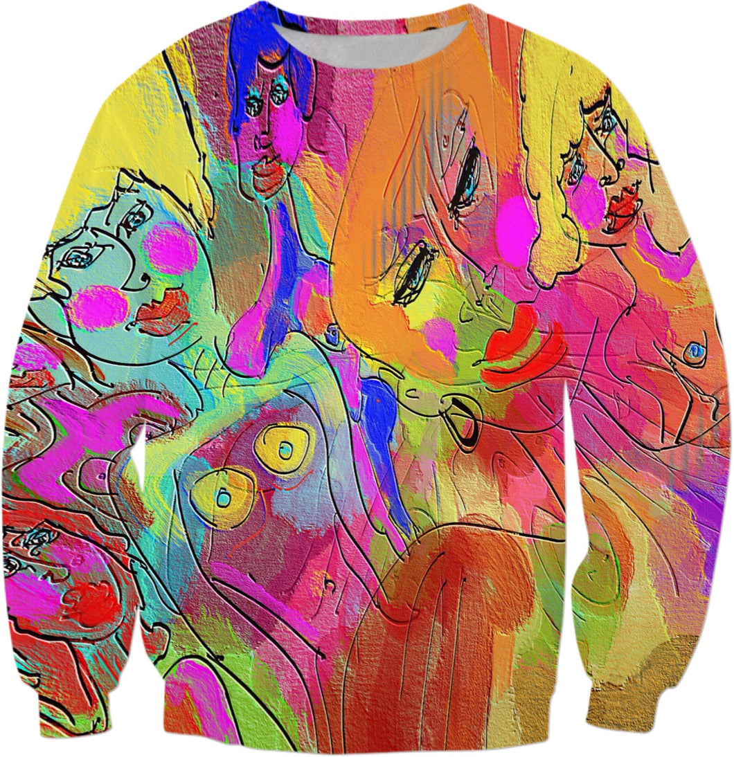 Sweatshirts Abstract  Collection Female Power