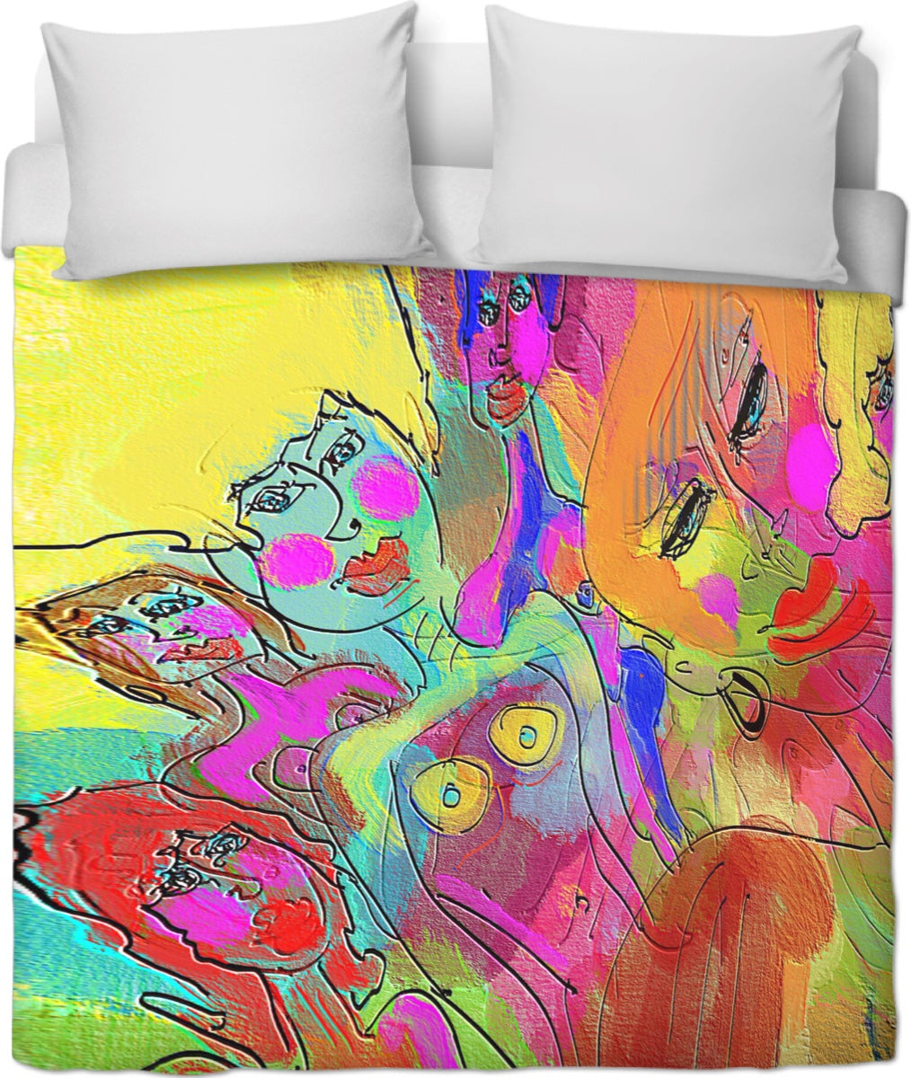 Duvet covers Abstract Painting Collection Female Power