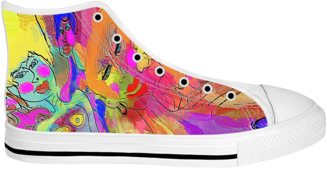 High Top Shoes Abstract Painting Collection Female Power