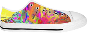 Low top shoes Abstract Painting Collection Female Power