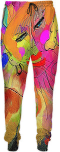 Joggers Abstract Painting Collection Female Power44