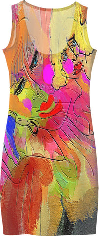 Women's Simple Dresses Abstract Painting Collection Female Power42