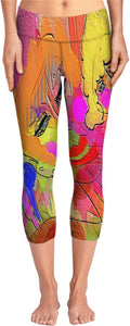Yoga pants Abstract Painting Collection Female Power
