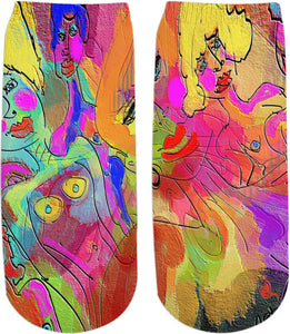 Ankle socks Abstract Painting Collection Female Power