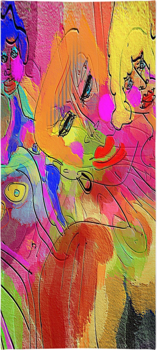 Bath Towels Abstract Painting Collection Female Power