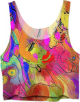 Crop Top Abstract Painting Collection Female Power