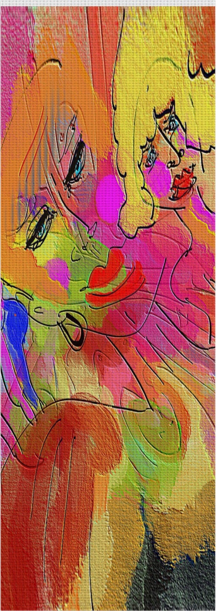 Yoga mat Abstract Painting Collection Female Power1