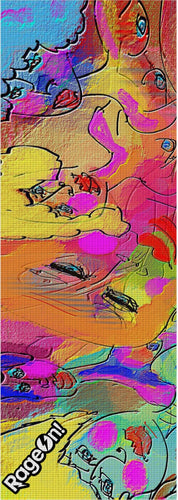 Yoga mat Abstract Painting Collection Female Power