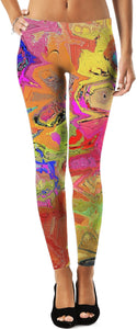 Leggings Abstract Painting Collection 201