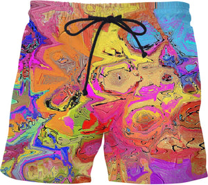 Swim shorts Abstract Painting Collection39