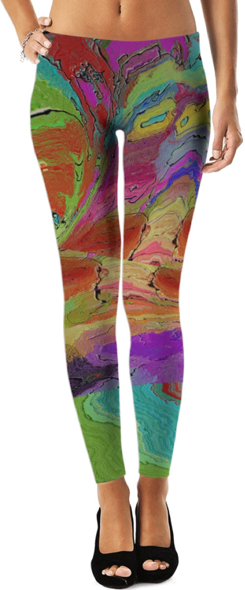 Leggings Abstract Painting Collection200