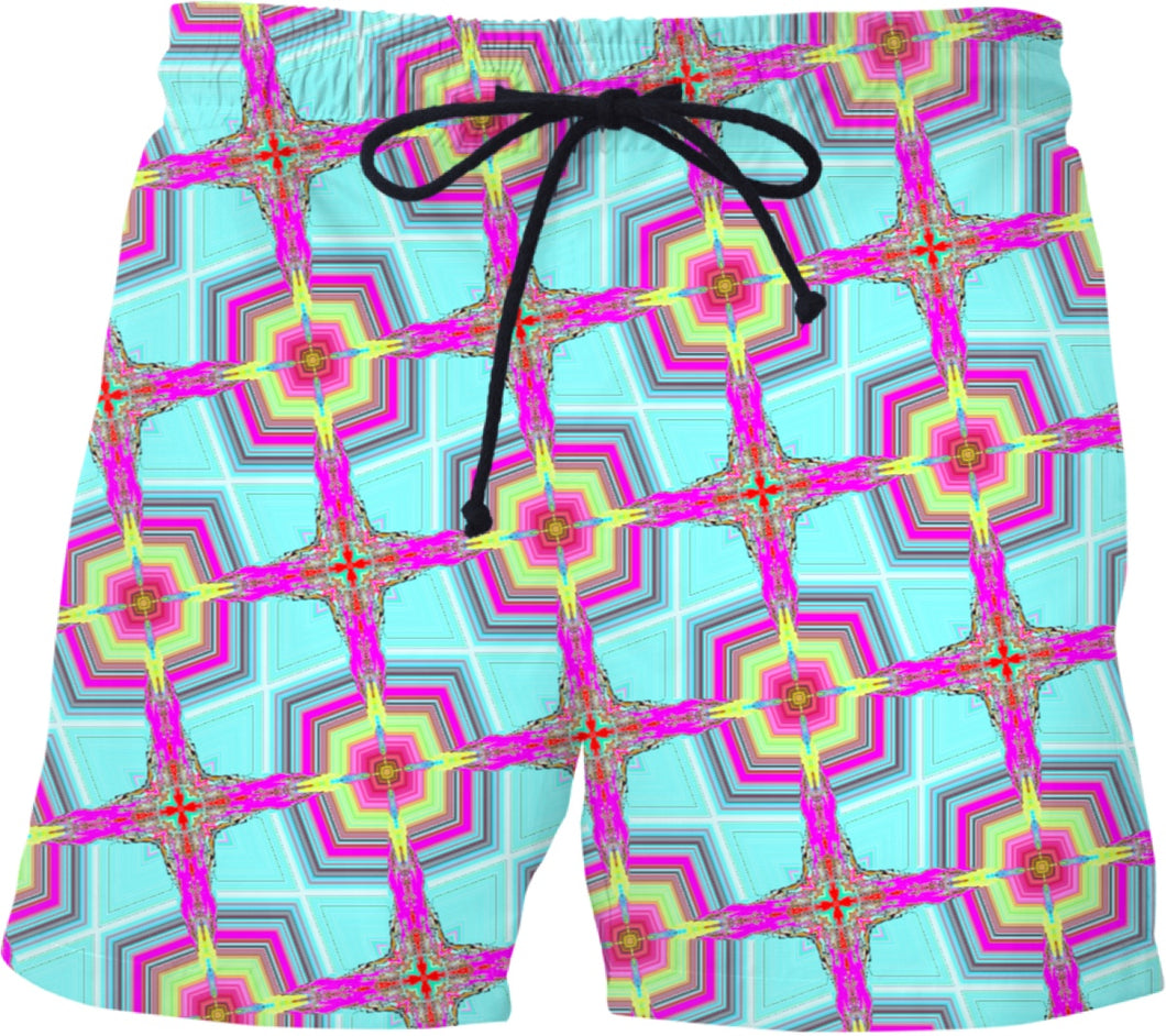 Swim shorts Pattern Collection blue/green582