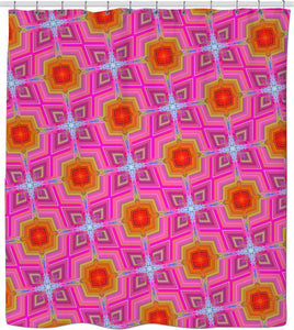 Shower curtain Pattern Collection pink512