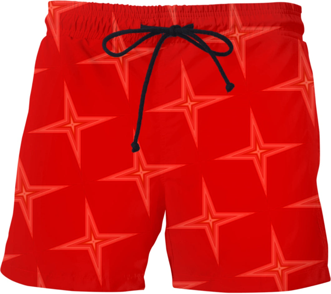 Swim shorts Pattern Collection red star.585