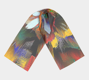 Long scarf Abstract fashion scarf1