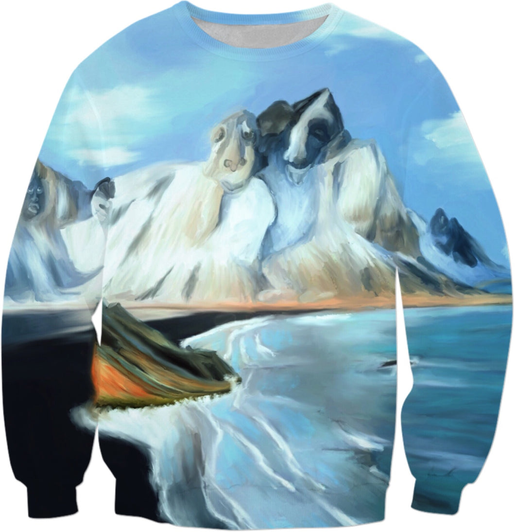 Sweatshirt Abstract Artic