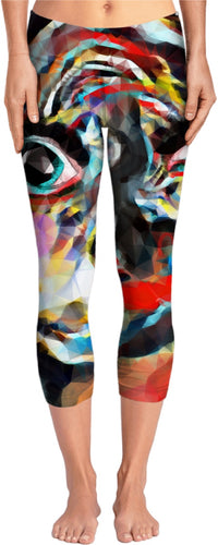 Yoga pants Abstract Face