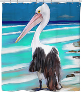 Shower curtain Pelican