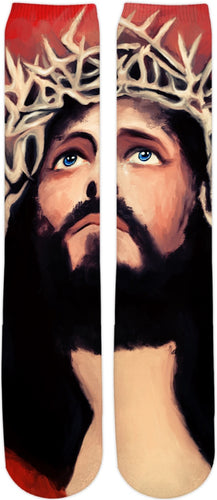Knee high socks Jesus