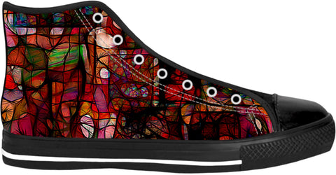 High Top Shoes Abstract Collection29