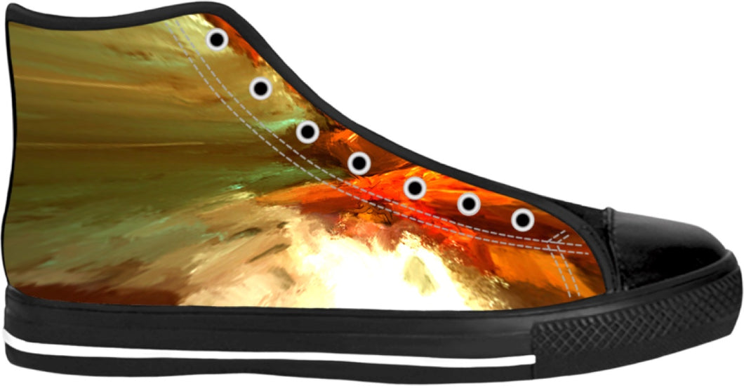 High Top Shoes Abstract Pattern