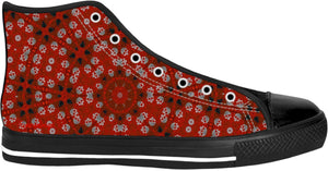 High Top Shoes Skulls