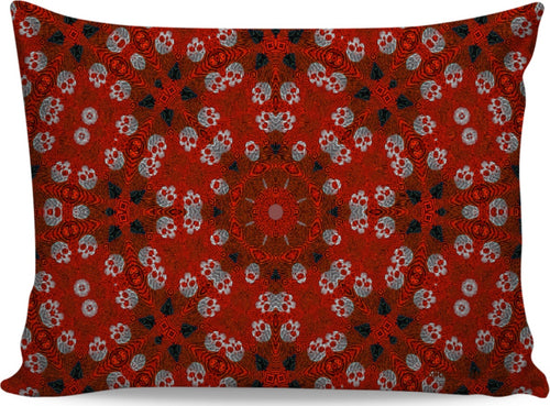 Pillow cases red skulls96