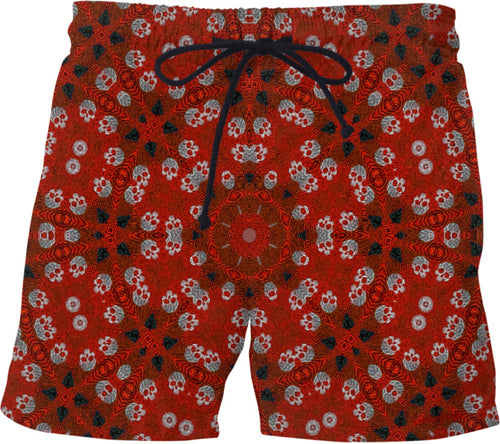 Swim shorts Skulls red