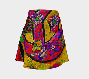 Flare skirt Peace sign