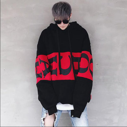 Hip Hop Hoodie Men Spring Fleece Street wear Hooded Cloth Soft Loose Style Letter Printed Suprem Mens Hoodies
