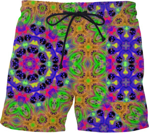 Swim Shorts Mini Skull Print