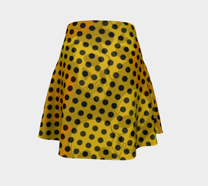 Flare skirt Yellow poka