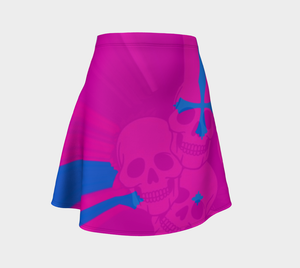Flare skirt pink/blue