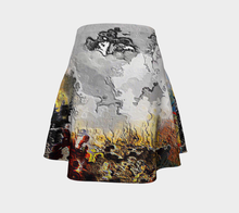 Flare skirt Abstract whispering soul