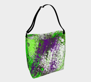 Day tote Green abstract