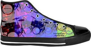 High Top Shoes Drummers Licks Rhythm Wear 9