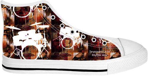 High Top Shoes Drummers Licks Rhythm Wear 112