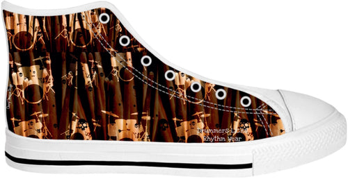 High Top Shoes Drummers Licks Rhythm Wear 14