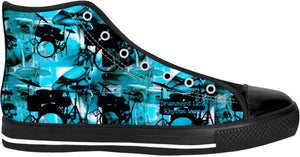 High Top Shoes Drummers Licks Rhythm Wear 15