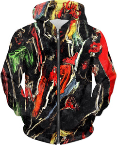 Hoodies Abstract Painting 1