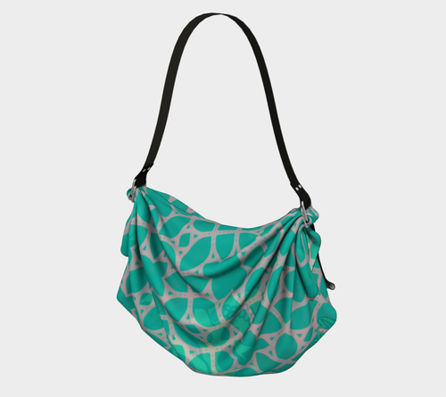 Origami tote Teal