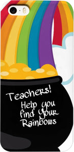 Phone Cases Teachers Theme Rainbows