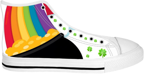 High Top Shoes Teachers Theme Rainbow