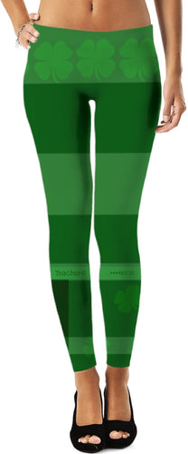 Leggings Teachers Theme Shamrock