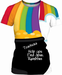 Women's T-shirts Teachers Theme2