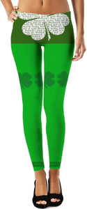Leggings Teachers Theme Shamrock 3