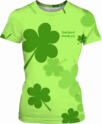 Women's T-shirts Teachers Clover