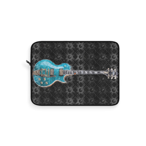 Laptop Sleeve guitar and metal backg